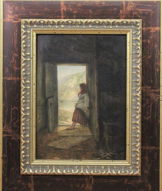 te_koop_aangeboden_een_genre_schilderij_van_de_nederlandse_kunstschilder_diederik_franciscus_jamin_1838-1865