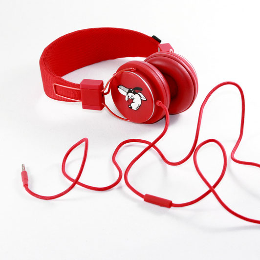 red Urban ears custom painted bobsmade