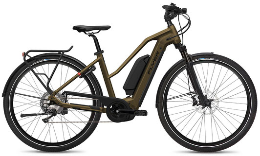 E-Bike FLYER Upstreet4 Mixed mit Dual Battery kashima