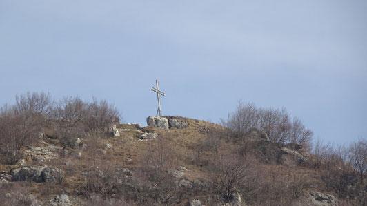 La croce di vetta del Monte Barro