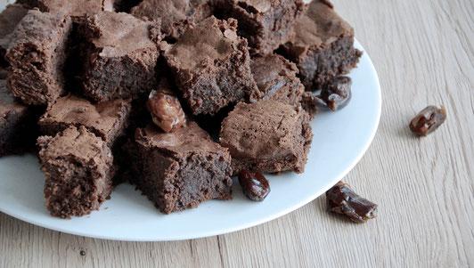 Schokobrownies, Dattelbrownies, Schoko-Dattel-Brownies