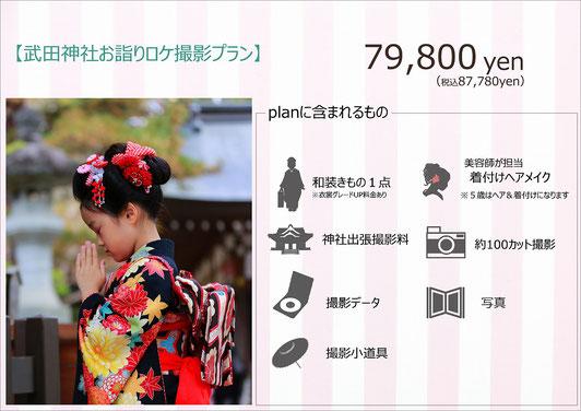 武田神社七五三神社お詣りロケーション撮影プラン紹介