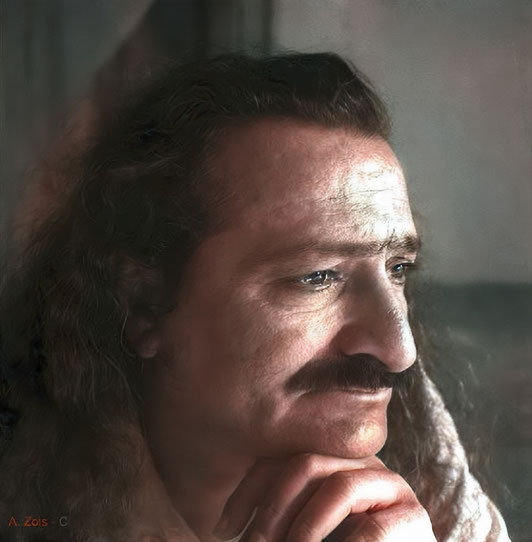 1.   Meher Baba in seclusion on Meherabad Hill- 1st Aug. 1941. Photo taken by Padri.