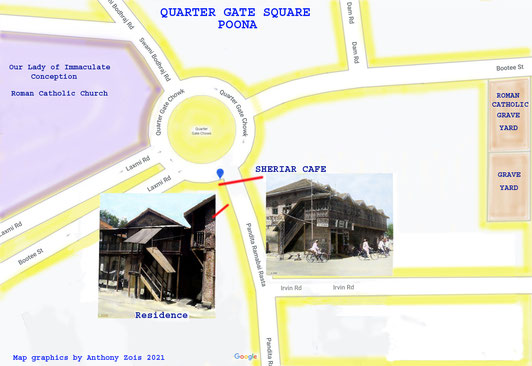 1900 Quarter Gate Square, Poona. Map graphics by Anthony Zois.
