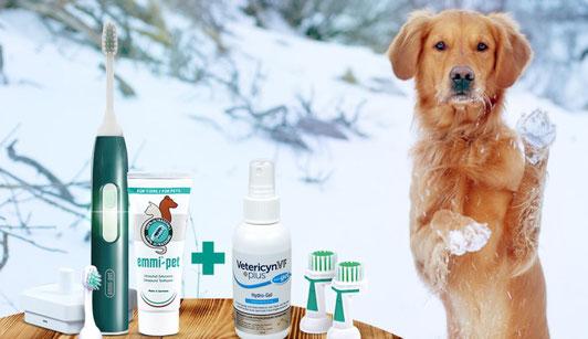 Emmi Pet von Emmi-Ultrasonic die Ultraschall Zahnbürste für Hunde.