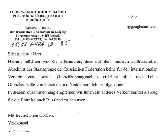 Visum Russland Konsul Leipzig