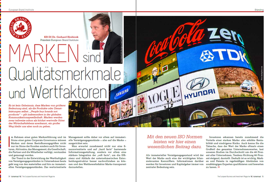 Expert article, Dr. Gerhard Hrebicek, European Brand Institute, Brand Standards, brands, ISO Norm