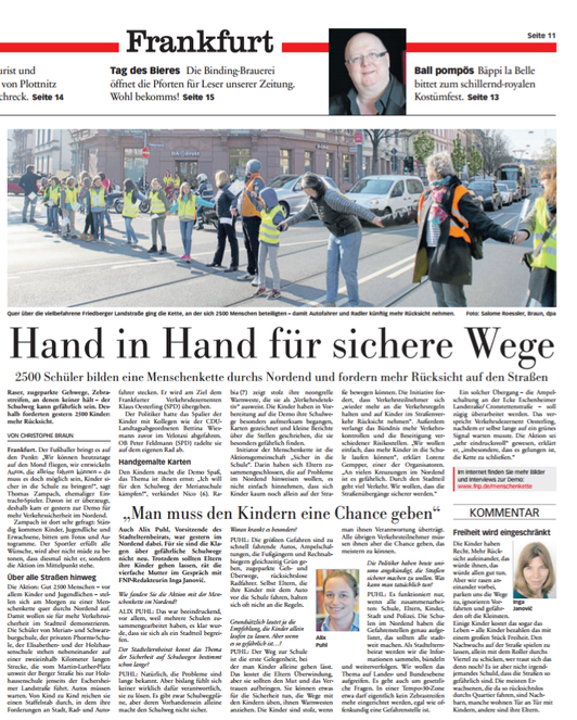 Frankfurter Neue Presse, 22. April 2017
