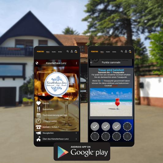 Die Künstlerhaus Lenz Smartphone und Tablet App , erhältlich kostenlos im Google Play Store
