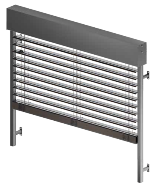 venetian blind with cassette quadrat