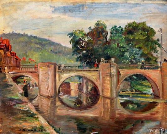 Erwin Bowien ( 1899-1972): Brücke in Hann Münden, 1948