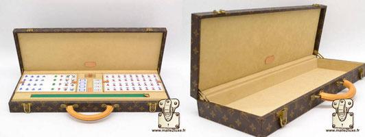 Valise tuiles de Mahjong Louis Vuitton game chinois