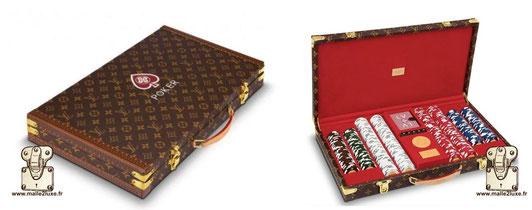 Valise poker Louis Vuitton prix du neuf 18000€ pas cher