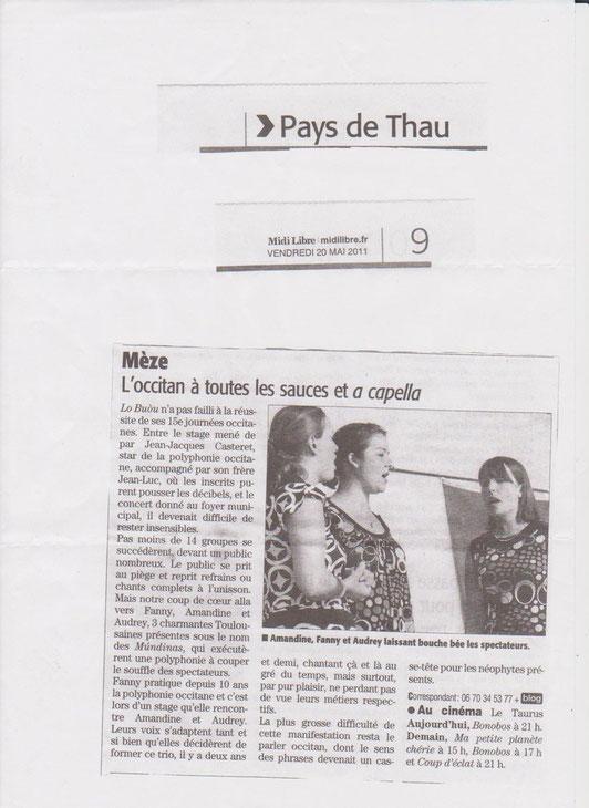 Concert du 15 Mai 2011 à Mèze