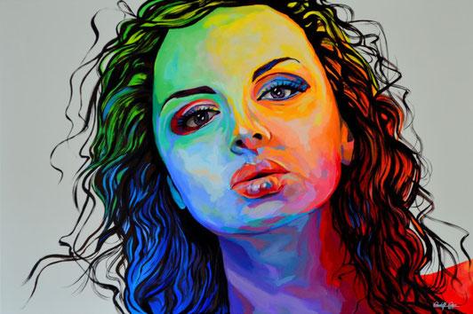 Portrait in Acryl auf Leinwand