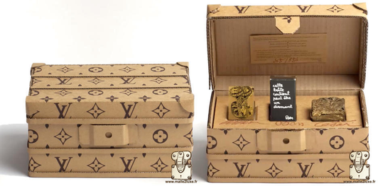 Cardboard trunks: Ben, Caesar and Arman louis vuitton
