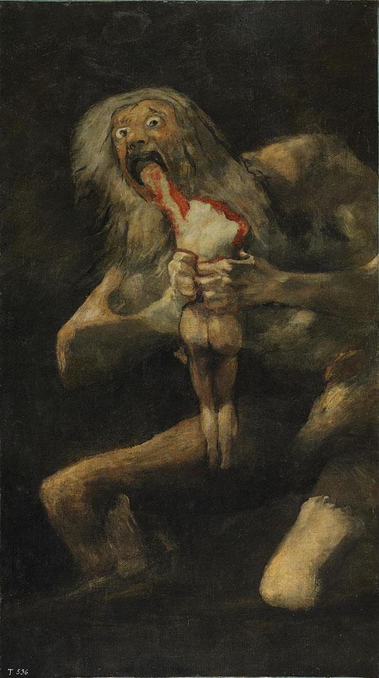 《我が子を食らうサトゥルヌス》1819-1823年