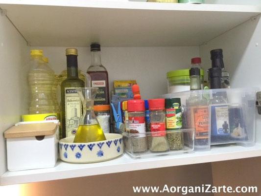 ubica muy a mano los condimentos - AorganiZarte