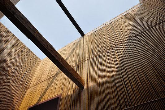 pavilions  bambou  - bâtiments bambou
