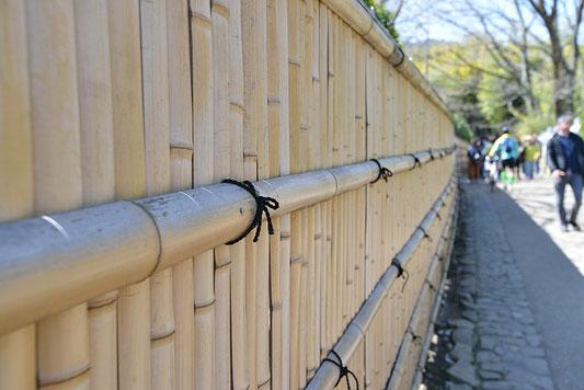 Clôture  mur de bambou