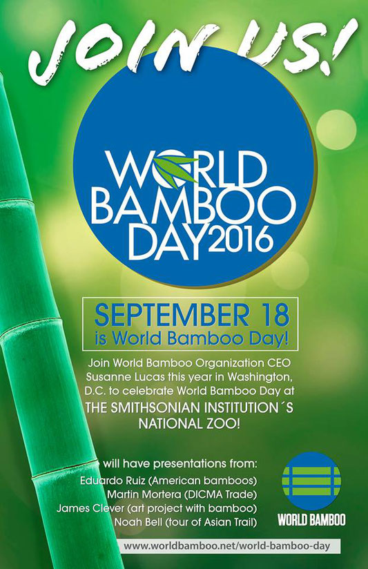 World Bamboo Day - Journée Mondiale du bambou ce 18 septembre 2016