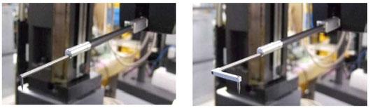 Taster mit magnetischem Halter nach Anwendung