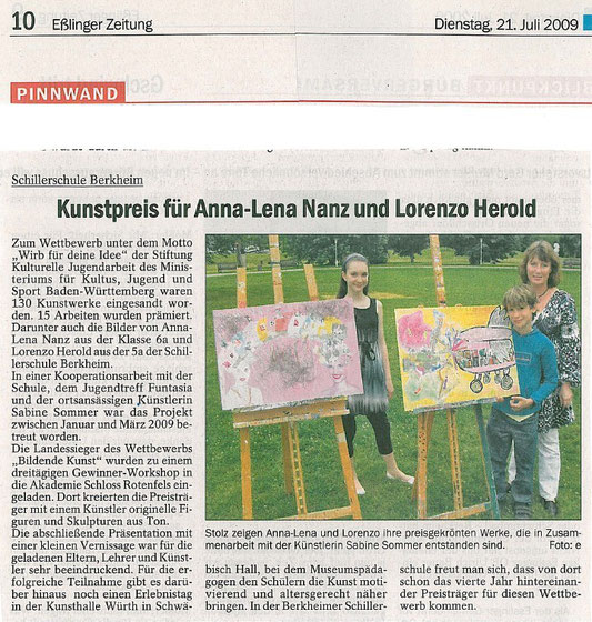 Quelle: Esslinger Zeitung Juli 2009