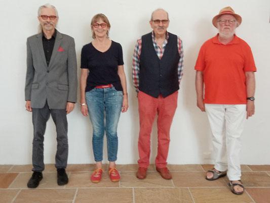 v.l. -  Eric (EHW) Schaper, Dr. Anna K. Boertz, Dr. Jürgen Henke, Günter Engling - Foto Manuela Mast