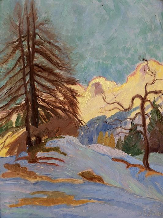 Karl Theodor Huber, Engadiner Landschaft