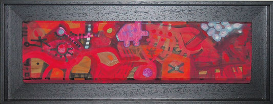 9.-50x19,5cm. Mixta sobre Tabla