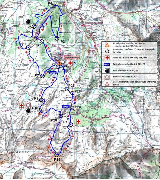 Carte du parcours Sommarel