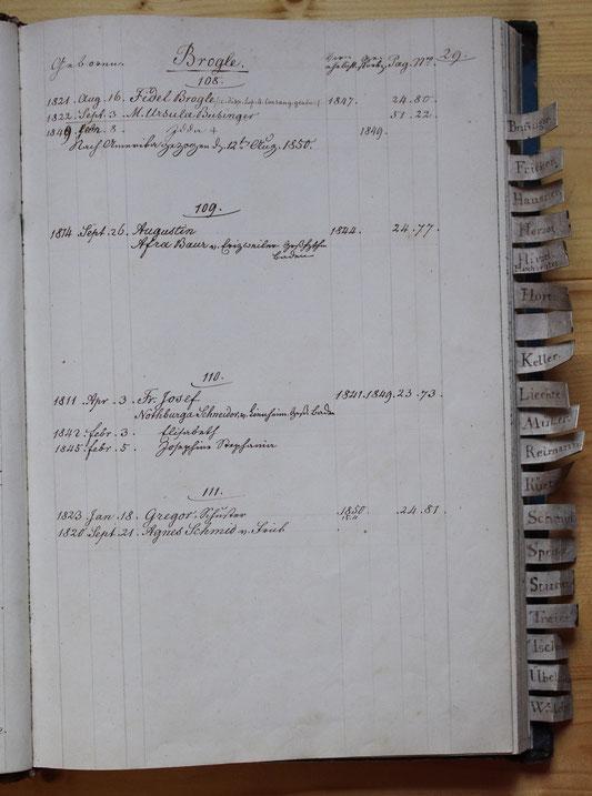 Original-Familienbuch von 1846: Seite 29