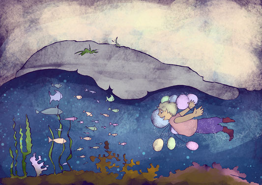 gute nacht kinderbuch illustration