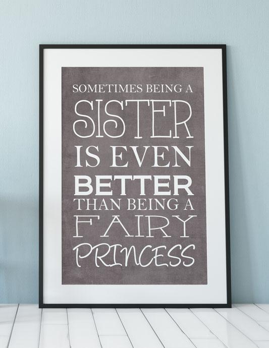Geschenk Schwester Druck