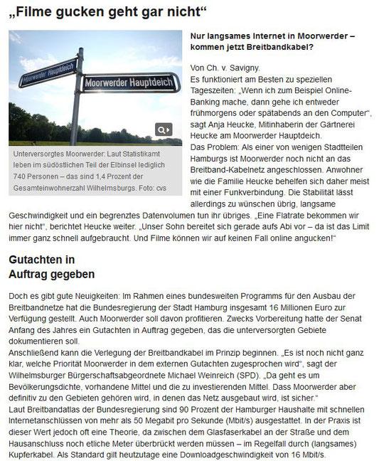 Wochenblatt Wilhelmsburg  10.08.16  Seite 1