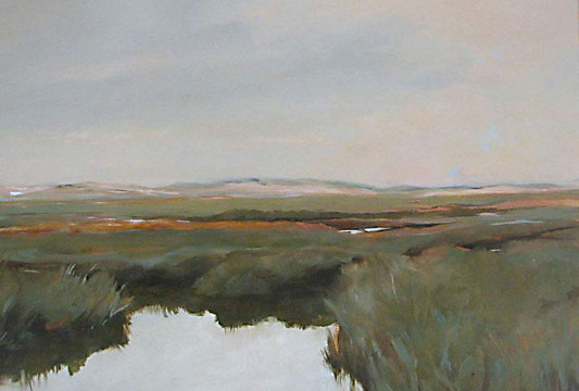 marsh III; oil on panel