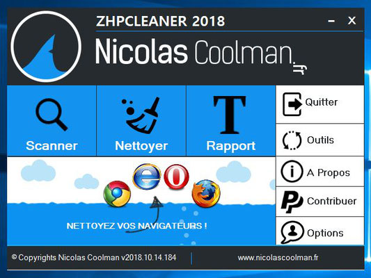 ZHPCleaner interface