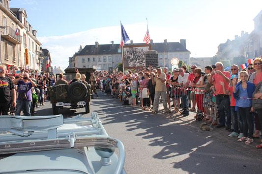 Défilé à Isigny sur Mer - cliquez sur la photo