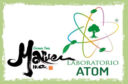 Logo che unisce quello di Maruei con il nostro Atom.