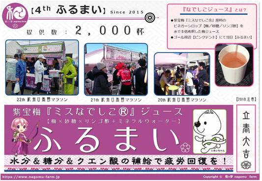 4th ふるまい活動pop 23th 紀州口熊野マラソン 和×夢 nagomu farm