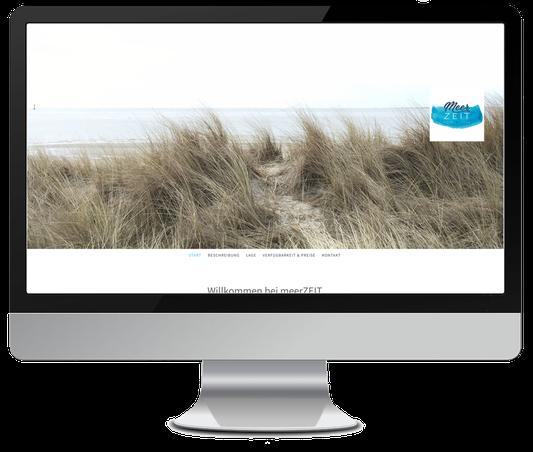 Website für Ferienwohnungen Meerzeit Norderney