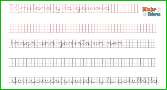 parte del ejercicio en caligrafía de Esopo