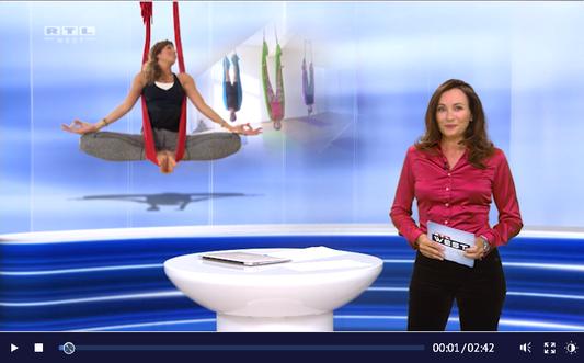 AERIAL YOGA BERICHT BEI RTL WEST