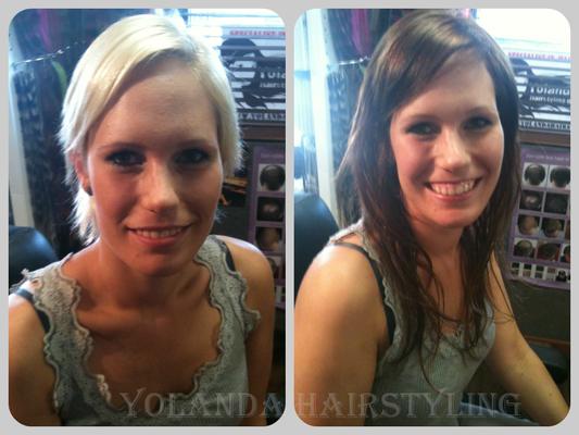 Yvonne van kort blond naar langharige brunette