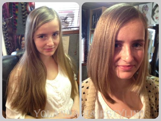 Bente doneerde haar haren voor stichting haarwensen