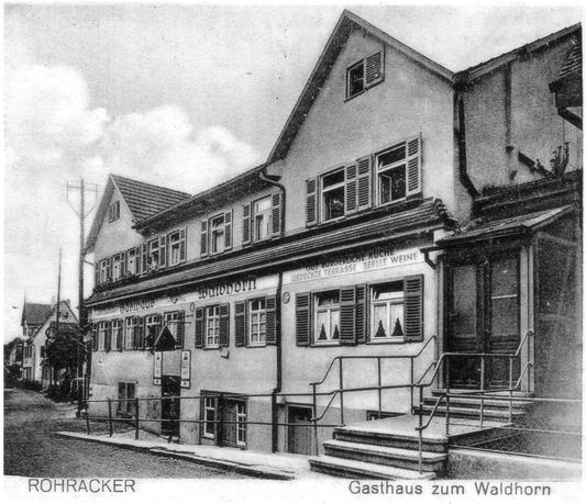 Gasthaus zum Waldhorn Anfang 20. Jahrhundert.