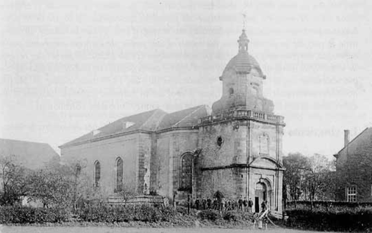 Photo de l'église de Niderviller à la fin du dix-neuvième siècle