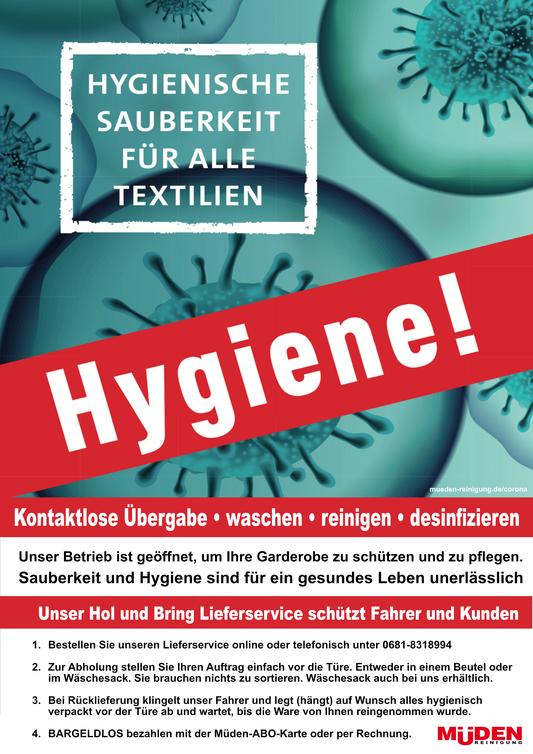 mueden.de, corona, Bild Hygiene kontaktlose Übergabe