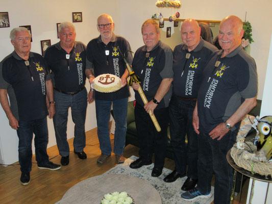 Hans Kündig, Hugo Schaub, Hans Hofer, Bernhard Wullschleger, Hanspeter Wullschleger und Kurt Hildebrand (v li n re)