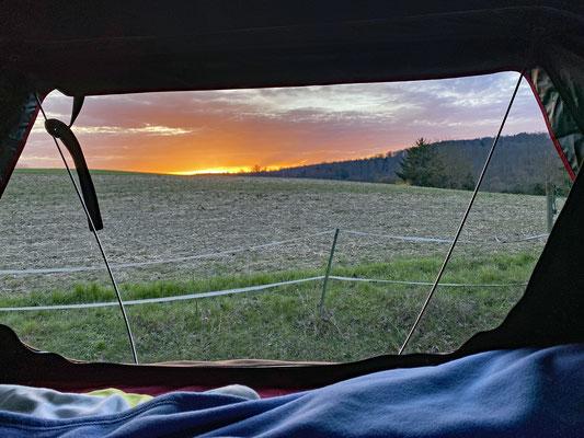 Wieder ein toller Sonnenaufgang.